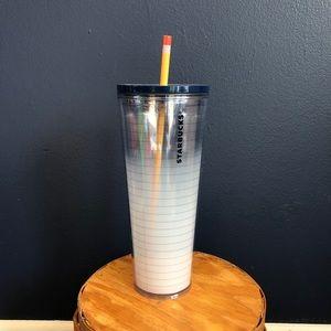NWT teacher Starbucks notebook tumbler